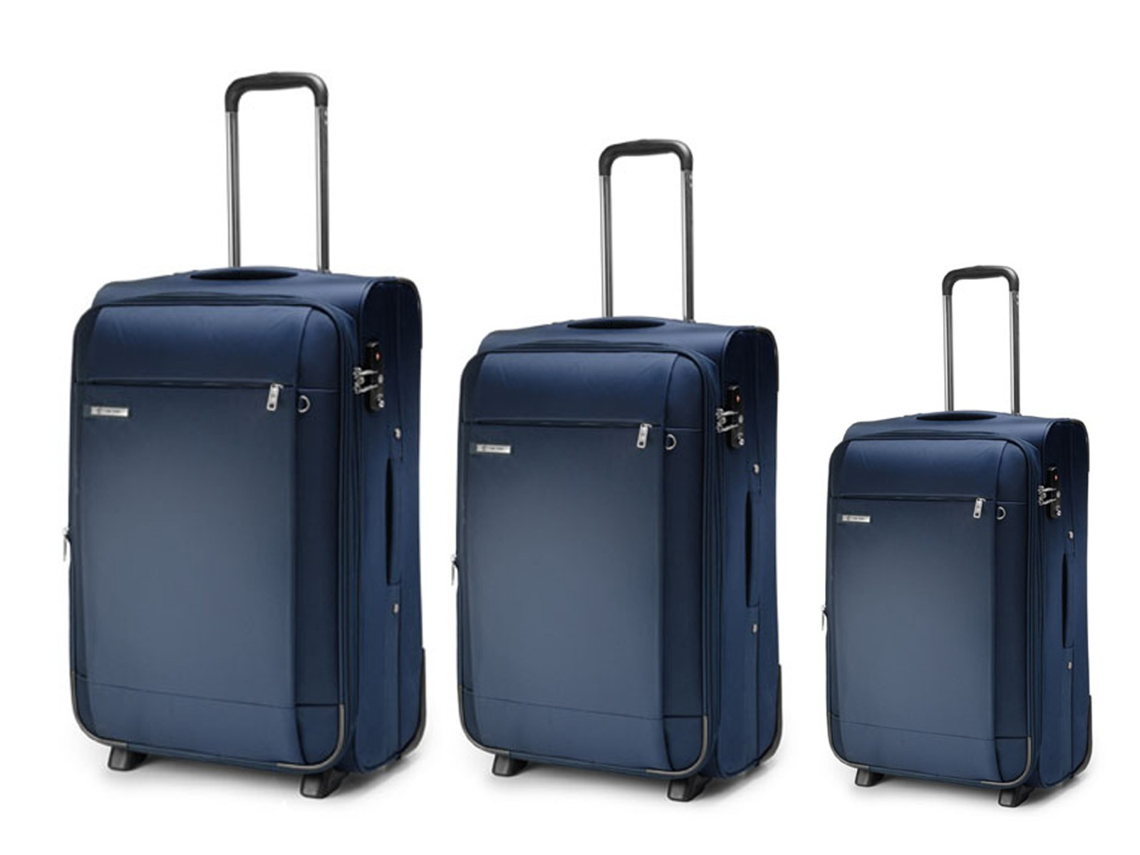 Carlton Titanium Expandable Trolley Set 72/65/55cm in Navy Blue