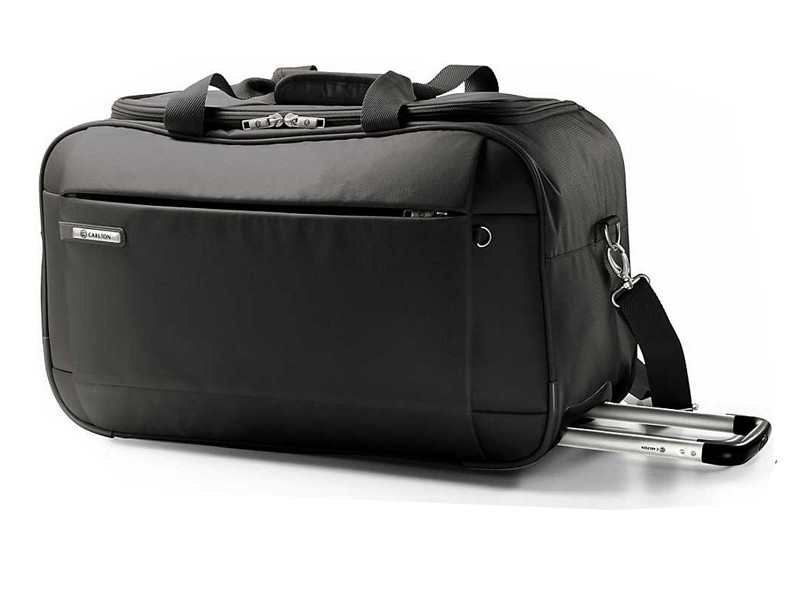 Carlton Titanium Holdall with Trolley 78cm in Black