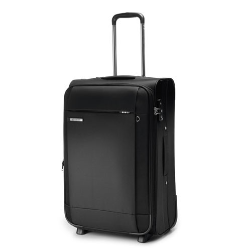 Carlton Titanium Expandable Trolley Case 55cm Cabin Size in Black