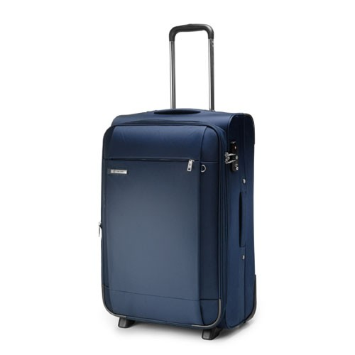 Carlton Titanium Expandable Trolley Case 55cm Cabin Size in Navy Blue
