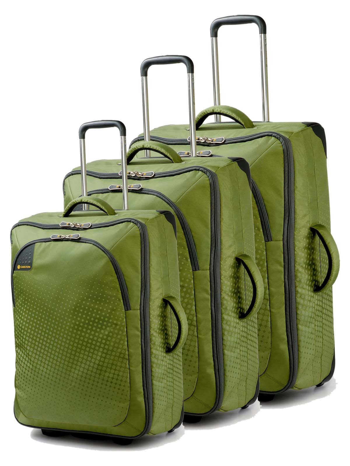 Carlton Tribe Trolley Set 72/65/50cm in Apple Green