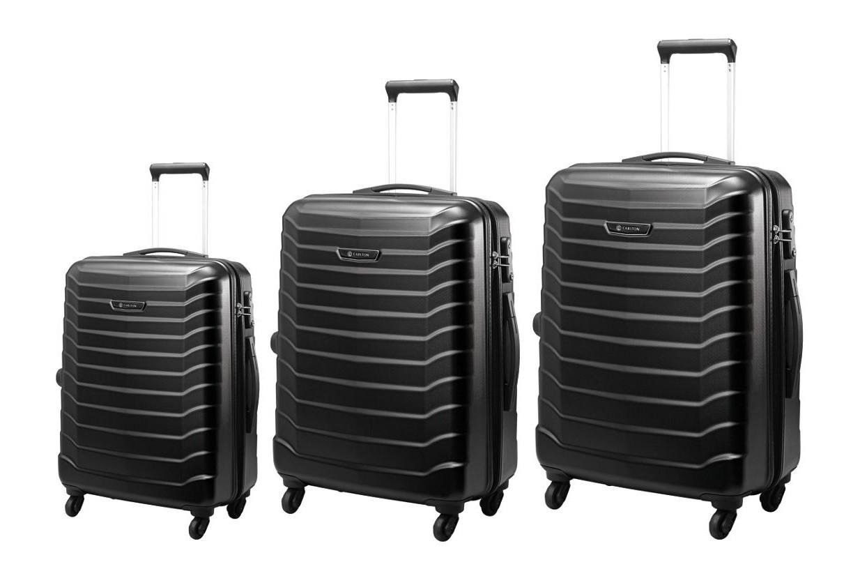 Carlton Jaguar Hard Sinner Luggage Set Black