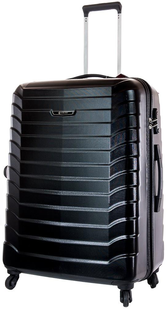 Carlton Jaguar Hard Trolley Case 65cm Spinner Luggage Black