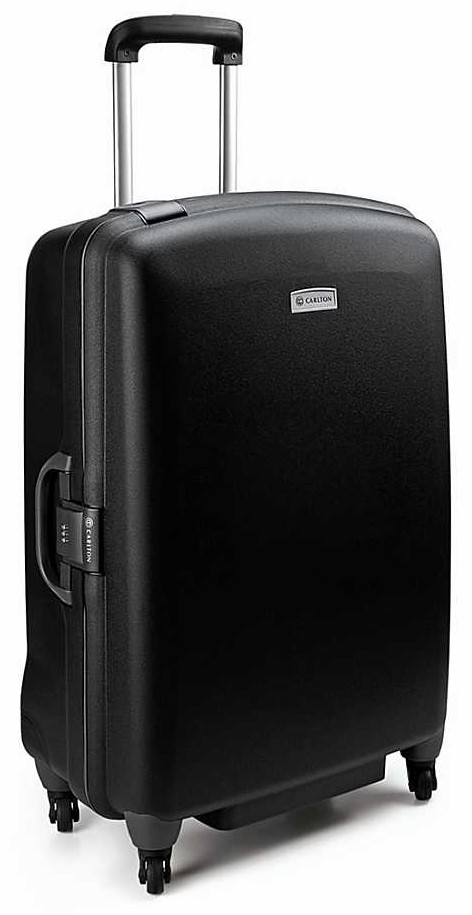 Carlton Glider II Spinner 4 Wheel Trolley Case 82cm in Black