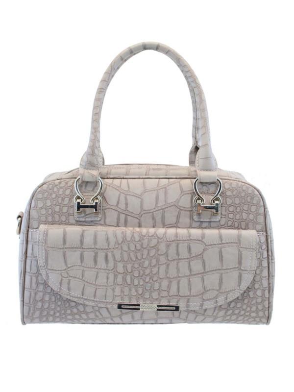 Charley Clark Designer Fashion Handbag in Beige