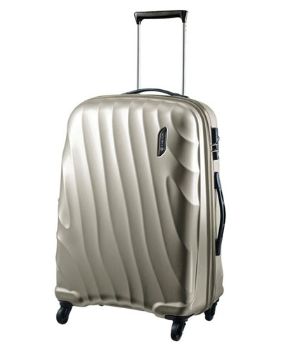 Carlton Dune Spinner 4 Wheels Trolley Case 55CM Cabin Size in Champagne