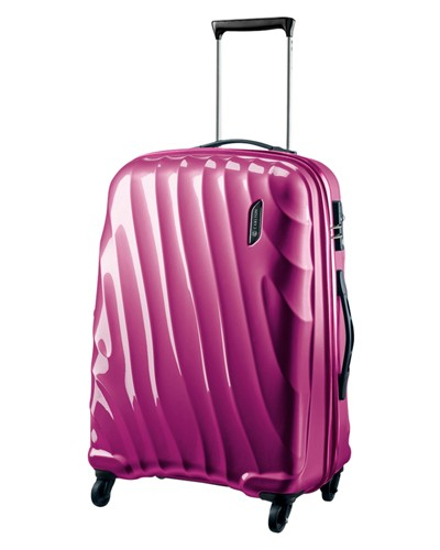 Carlton Dune Spinner 4 Wheels Trolley Case 55CM Cabin Size in Magenta