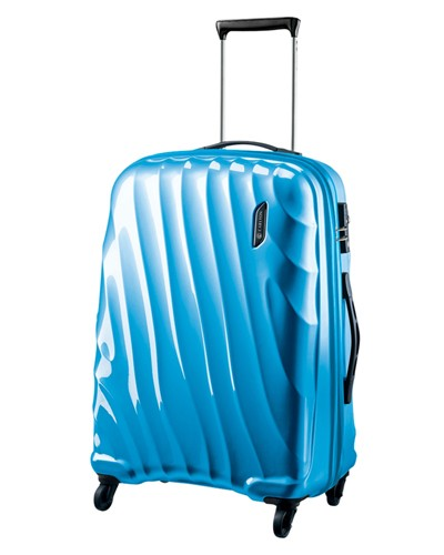 Carlton Dune Spinner 4 Wheels Trolley Case 55CM Cabin Size in Caribbean Blue