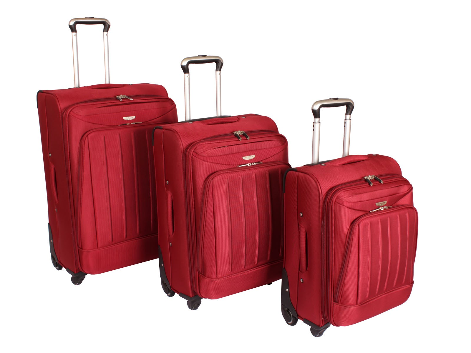 "Cyclone Flo 4 Wheel Luggage Set of 3 ( 20"" / 24"" / 28"" ) Burgundy"