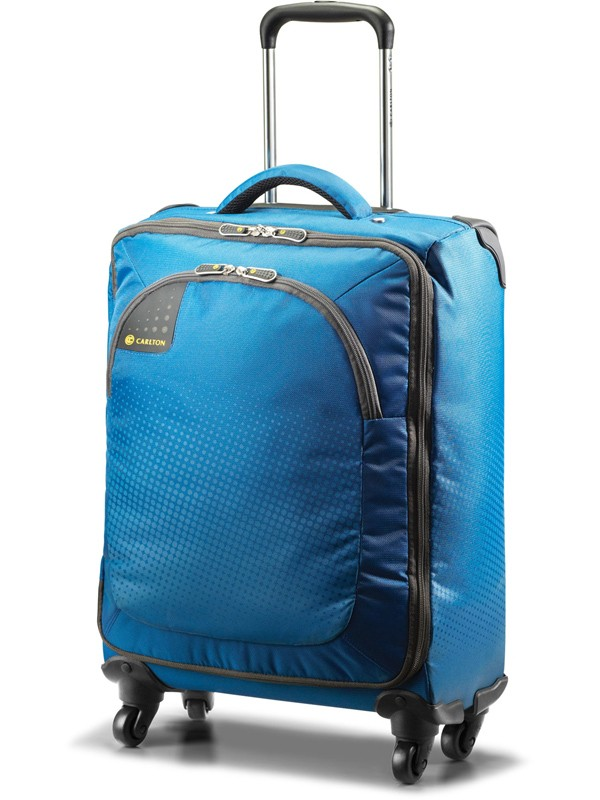 Carlton Tribe 4 Wheel Spinner Case 55cm Cabin Size in Aqua Blue