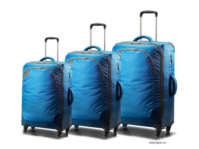 Carlton Tribe 4 Wheel Spinner Trolley Set 78/68/55cm in Aqua Blue
