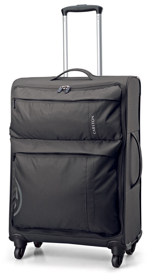 Carlton V-Lite Spinner 4 Wheels Trolley Case 55cm in Black