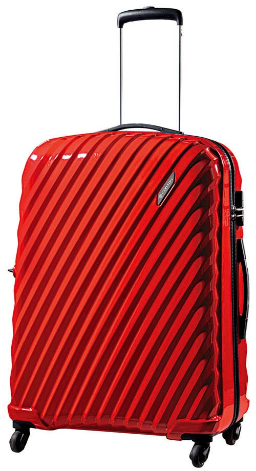 Carlton Velocity Spinner 4 Wheels Trolley Case 55cm in Red