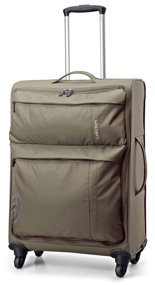 Carlton V-Lite Spinner 4 Wheels Trolley Case 55cm in Khaki