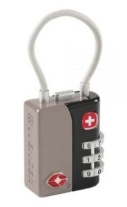 Wenger TSA 3-Dial Combination Cable Lock in Grey