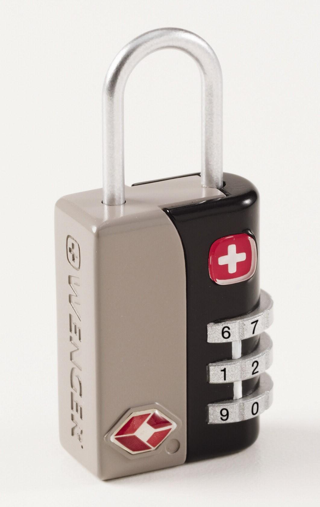 Wenger TSA 3 Dial Combination Lock in Grey