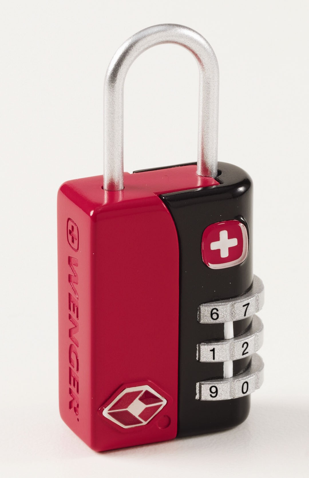 Wenger TSA 3 Dial Combination Lock in Red