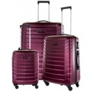 Carlton Jaguar Hard Shell 4W Spinner Luggage Set Cherry Red