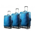 Carlton Tribe 4 Wheel Spinner Trolley Set 78/68/55cm in Aqua Blue