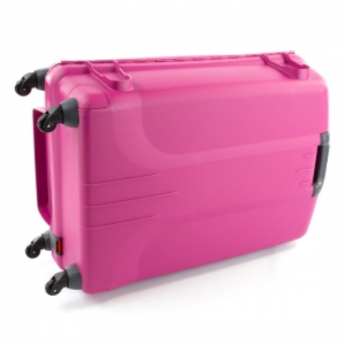 Carlton Glider 3 Hard Sided 4 Wheel Trolley Case 75cm Plum, Pink ...