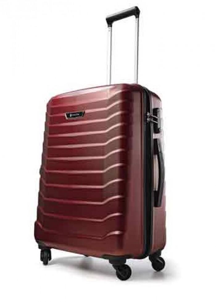 Carlton Jaguar Hard Shell Trolley Case 65cm Spinner Cherry Red