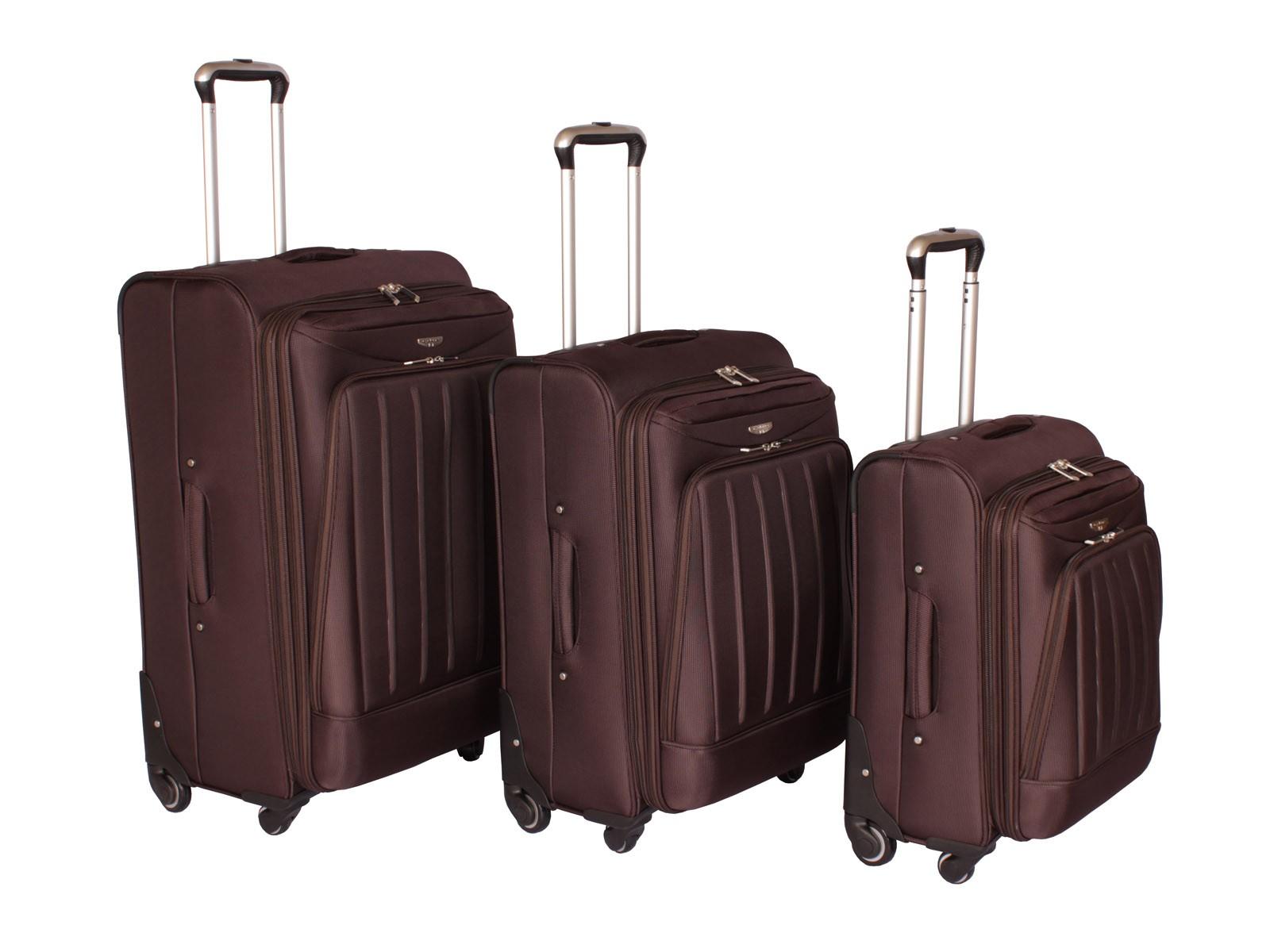 "Cyclone Flo 4 Wheel Luggage Set of 3 ( 20"" / 24"" / 28"" ) Coffee"